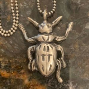 🐞Alexander McQueen Beetle Necklace NEW w/ Box